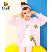 【3折价:149.7】B.duck小黄鸭童装女童外套2020春季新款洋气中大童学院风棒球服潮BF1107902