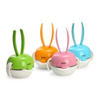 英国贝氏儿童餐具套装餐碗+水杯+叉勺BERZ彩虹兔五合一宝宝卡通餐