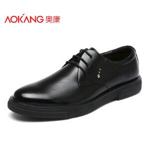 奥康男鞋 皮鞋 男士商务休闲皮鞋系带正装鞋