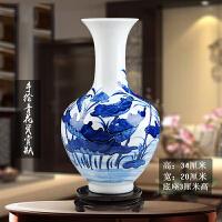 景德镇陶瓷器仿古青花瓷插花花瓶中式摆件简约家居饰品客厅工艺品