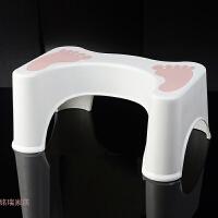 儿童如厕凳创意浴室加厚塑料马桶垫脚凳坐便凳蹲坑增高脚凳蹲便凳