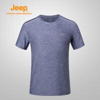 【特惠价】Jeep/吉普 男士户外速干衣透气排汗速干T恤男J822094520