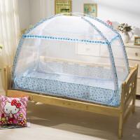 婴儿床蚊帐儿童纹帐有底宝宝bb小孩蒙古包罩带支架可折叠