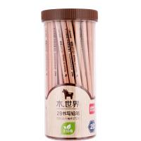 【单品包邮】得力木世界系列原木2B铅笔 素描绘图学生铅笔 72支/桶S951