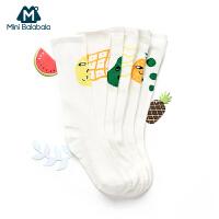 【每满100减50】迷你巴拉巴拉儿童装卡通袜子2018新款男女童长袜宝宝袜子