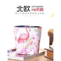 创意迷你桌面垃圾桶 ins火烈鸟家用小号可爱收纳桶