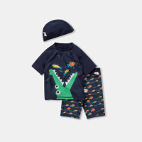 【2件4折】迷你巴拉巴拉儿童泳衣男童分体泳衣套装夏季新款小孩卡通泳衣泳裤