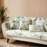 美式田园春夏沙发垫布艺组合沙发巾花卉四季通用沙发套罩