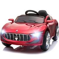 新款儿童电动汽车四轮可坐玩具车婴幼儿宝宝遥控摇摇车烤漆四驱电动跑车小孩玩具车可坐 +皮座