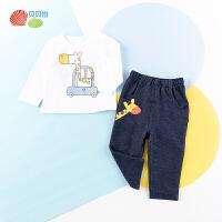 贝贝怡儿童长袖套装新款宝宝可爱t恤+休闲打底裤