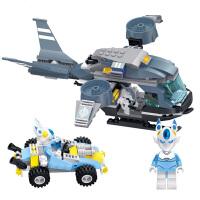 星钻积木 赛尔号战神联盟塑料拼装积木拼插 儿童益智玩具 卡修斯VS海盗直升机80232