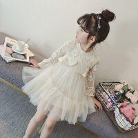 女童春装连衣裙2018新款儿童装春季蕾丝裙子韩版中大童洋气公主裙