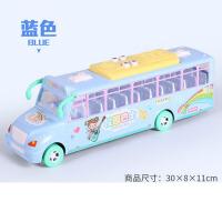 男女孩大号音乐校车汽车公交车模型儿童惯性车宝宝巴士玩具车