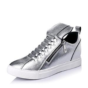 【鞋靴超级品类日】BASTO/百思图春季专柜同款山羊皮时尚舒适女休闲鞋TKV37AM6