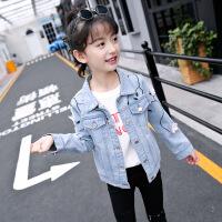 2019 女童秋装新款牛仔外套儿童韩版开衫上衣洋气短款夹克衫时尚潮 浅蓝色