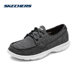 Skechers斯凯奇轻质软底休闲透气女鞋 网布缓震帆船休闲鞋 14429