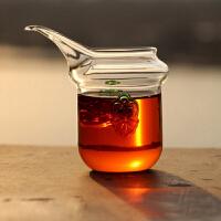耐热玻璃茶具 琉璃双耳公道杯 茶海 长嘴鹰嘴杯龙舌兰茶海250ml公道杯功夫茶具茶道配件