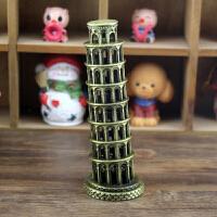 比萨斜塔铁塔摆件意大利建筑装饰创意小学生礼品送男女同学朋友生日节日礼物SN0680 颜色随机