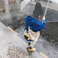女童洋气卫衣2018秋冬新款女宝宝加绒加厚上衣儿童时尚保暖外套潮