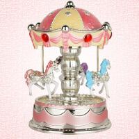 旋转木马音乐盒 玩具皇冠创意生日新年情人礼物工艺品摆件礼物礼品玩具