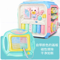 婴儿童音乐手拍鼓宝宝早教玩具1岁0-6-12个月拍拍鼓6面多功能 +画板