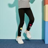 【春新品2件4折:55】巴拉巴拉旗下巴帝巴帝女童打底裤2020春装新款长裤子修身运动外穿女洋气