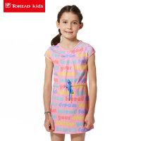 探路者Toread 女童风格系列满印针织连衣裙