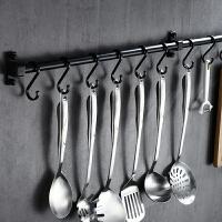 免打孔黑色挂杆 厨房挂钩 置物架厨房用品挂架