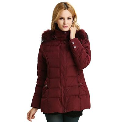 【一件三折 到手价:257.7】雅鹿羽绒服妈妈装冬装 貉子毛领中老年女装保暖加厚羽绒衣YP4132B