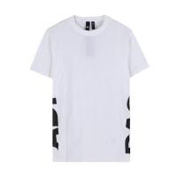 adidas/阿迪达斯女款2019夏新款中长款宽松显瘦半袖T恤DV0750