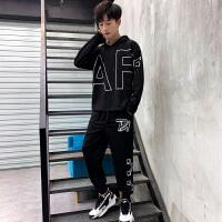 男士卫衣套装休闲两件套装春秋新款外套韩版潮流牌运动服上衣潮男TZ159.