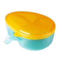 宝宝辅食训练碗 零食分格盒便携防摔碗勺婴儿防摔辅食碗