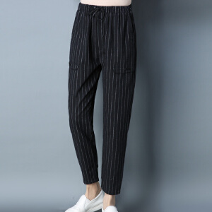 【满299减200 618开始了】Fanru梵如 2018春季新款女装时尚棉麻裤子休闲裤小脚裤长裤女宽松透气亚麻文艺范裤子女 F286-K06