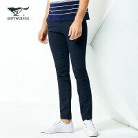 七匹狼休闲裤 2018春季新品青年男士时尚商务休闲长裤合体直筒