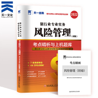 2019中国银行业专业人员职业资格考试专用试卷・考点精析与上机题库 银行业专业实务风险管理 银行从业资格考试历年真题