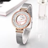 天王表正品手表防水钢带圆形大表盘石英表时尚潮流女表3952