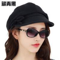 女士新款贝雷鸭舌帽优雅百搭 春夏天时尚休闲帽子女韩版