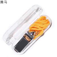 腾马 平板金属裁判口哨 运动/ 体育训练/带绳 户外求生防护用品