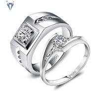 莫桑钻石戒指 结婚求婚戒铂金钻戒男女 白金情侣对戒珠宝