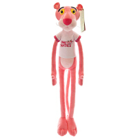 跳跳虎毛绒玩具大号可爱达浪粉红顽皮豹公仔 粉红豹-穿衣款