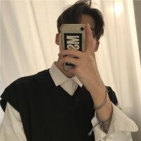 韩国17秋冬新品男士无袖坎肩毛衣背心V领针织马甲上装外套潮