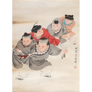 王叔晖《婴戏图》