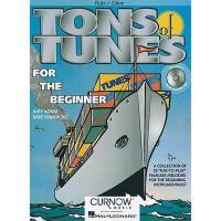 【预订】Tons of Tunes for the Beginner: Flute/Oboe [With CD