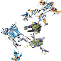 儿童启蒙拼装积木星球大战舰拼插飞船模型男孩玩具