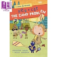 【中商原版】佩格与小猫3 Peg + Cat: The Camp Problem 分级阅读 Level2 低幼启蒙绘本图