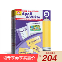 美国加州教材英文原版 技能卷笔刀 Skill Sharpeners Spell & Write Grade3-6 三年