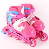 轮滑鞋 儿童溜冰鞋套装2020新款带头盔护具全闪轮滑鞋单排可调节旱冰鞋