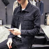 2018新款男士牛仔外套韩版潮流复古修身春秋季帅气牛仔夹克上衣潮