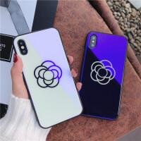 苹果7手机壳iPhone6蓝光玻璃壳8plus简约时尚6sp创意x新款男女潮