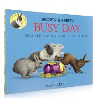 英文原版 Brown Rabbit's Busy Day 小棕兔忙碌的一天 经典时间观念儿童早教益智启蒙绘本 课后阅读